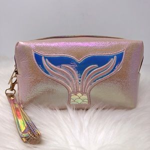NEW Mermaid Tail Pink Holographic Cosmetics Bag